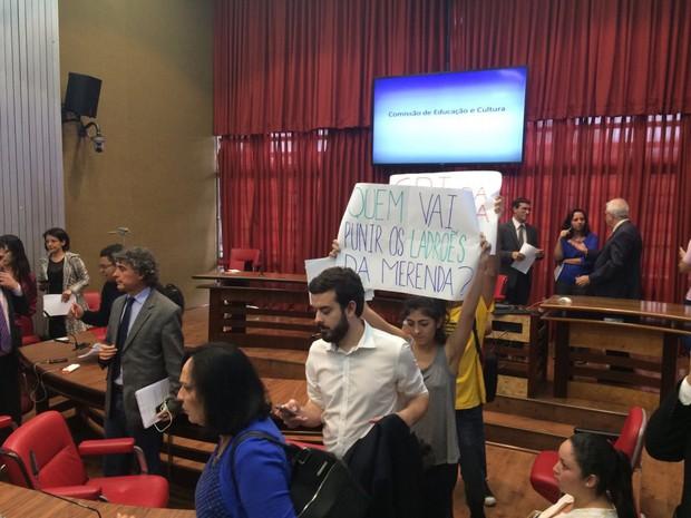 Comissão da Educação na Assembleia de SP não tem quorum nesta terça (Foto: Lívia Machado/G1)