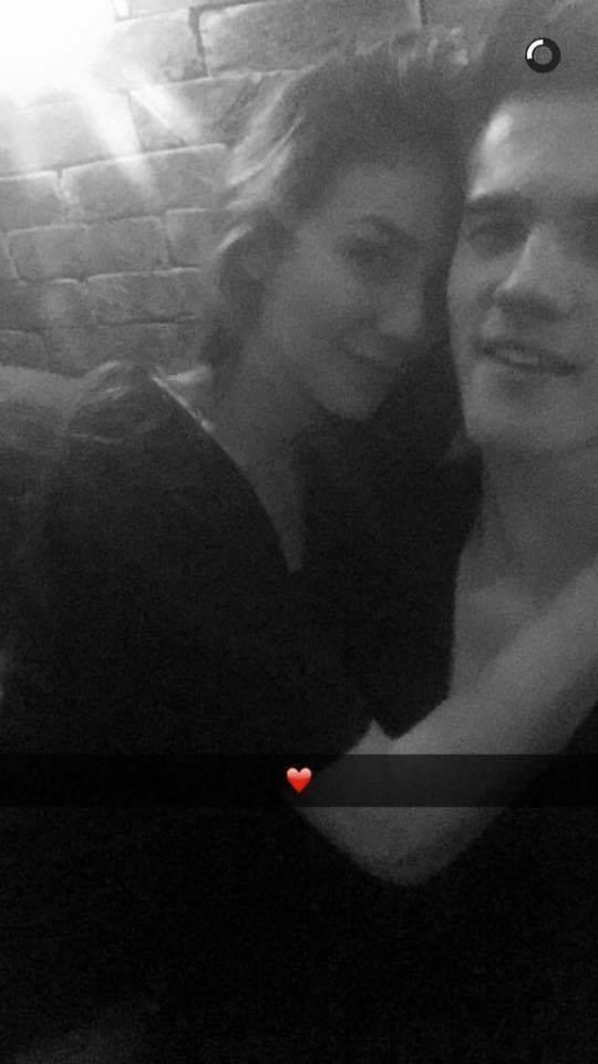 Bruna Santana e Breno (Foto: Reprodução/Snapchat)