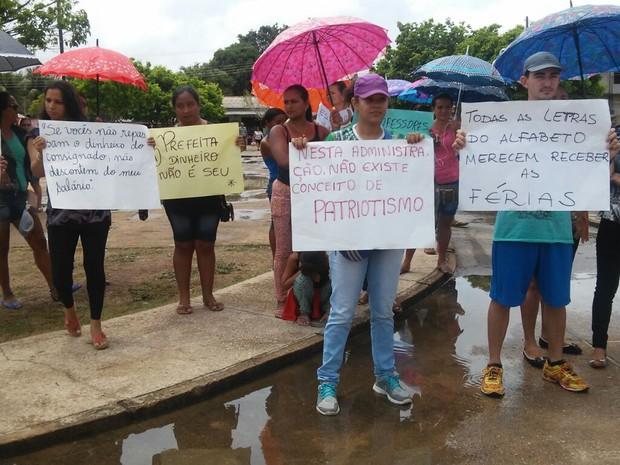 Atraso de salários é uma das reinvidicações da categoria (Foto: Sintepp-subsede Curuá/Divulgação)