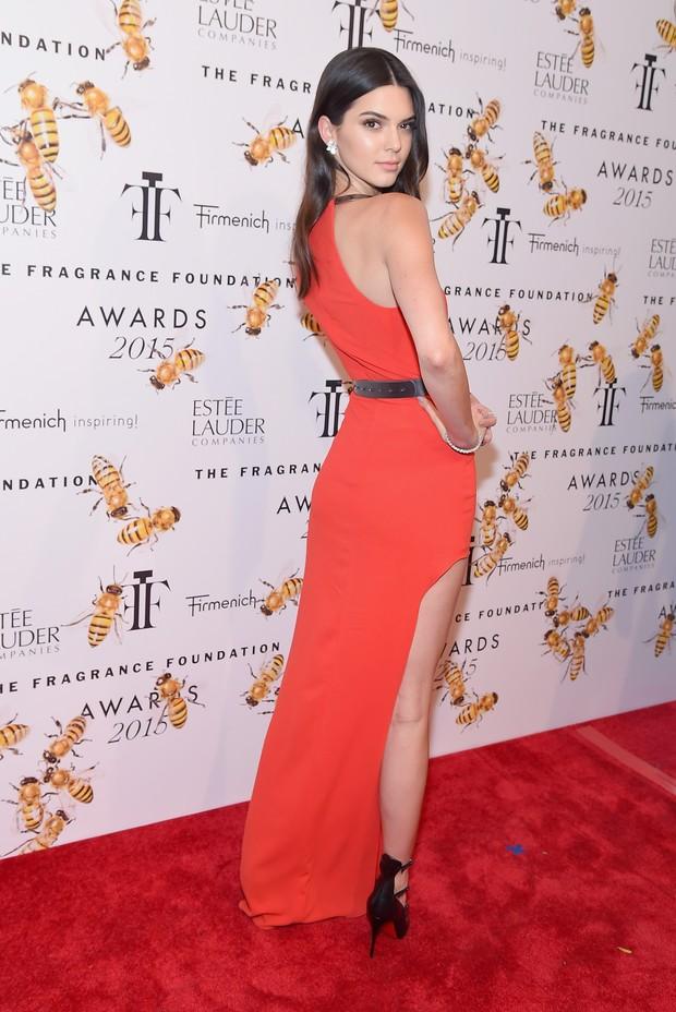 Kendall Jenner em evento em Nova York, nos Estados Unidos (Foto: Michael Loccisano/ Getty Images/ AFP)