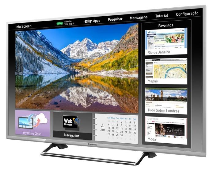 Smart TV da Panasonic com 49 polegadas vem com Wi-Fi integrado (Foto: Divulgação/Panasonic)