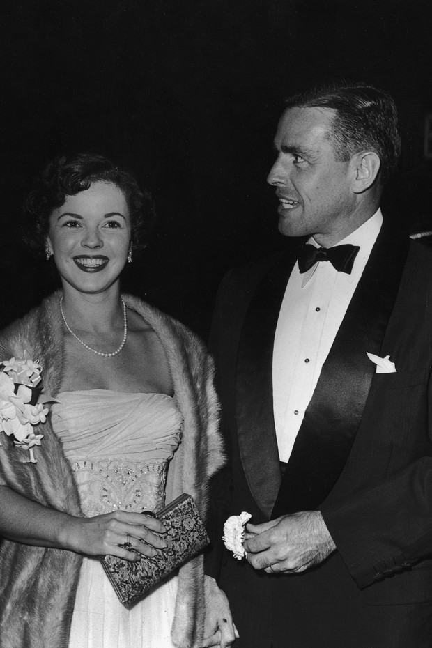 Shirley Temple e Charles Black em 1953 (Foto: Getty Images/Agência)