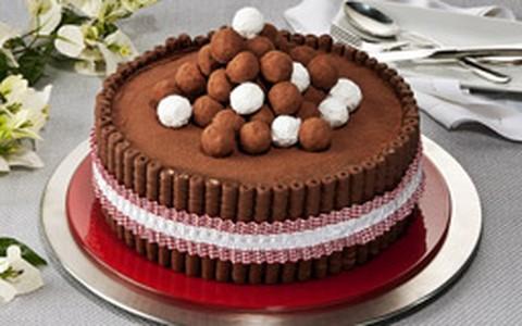 Torta trufada de chocolate