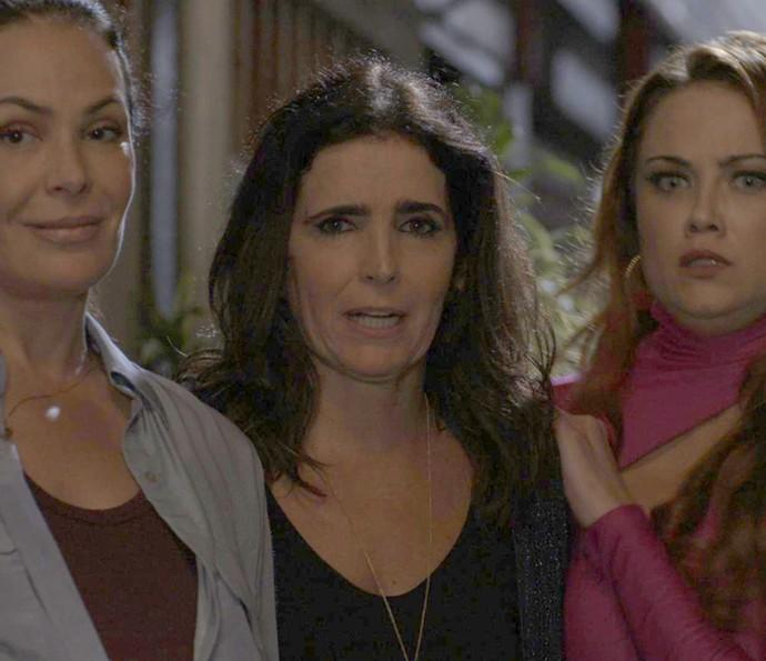 Penélope, Rebeca e Leonora resolvem fugir do SPA (Foto: TV Globo)
