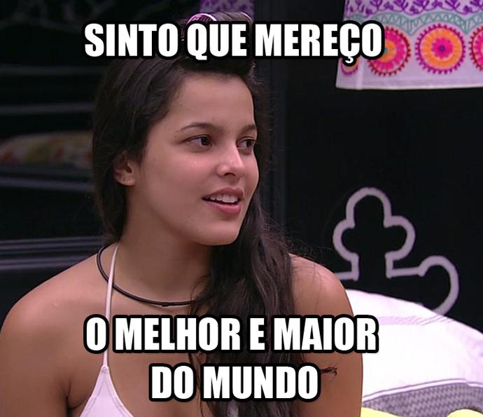 Emilly sinto que mereço o melhor e maior do mundo (Foto: TV Globo)