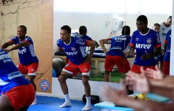 Com semana livre para treinos, Bahia trabalha parte física no Fazendão