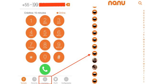 Digitando um número ou acessando um contato para ligar (Foto: Reprodução/Edivaldo Brito)