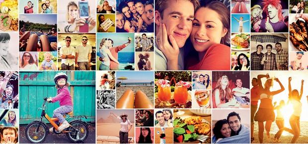 INSTANTÂNEOS Imagens de viagens, diversão e alegria em família. Esse tipo de ostentação só causa inveja (Foto: ThinkStock e reprodução)