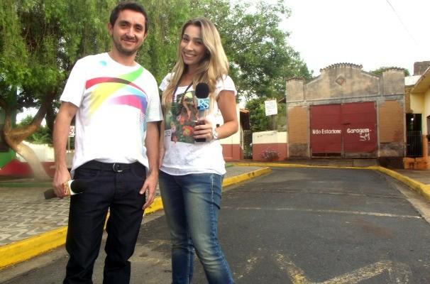 Ricardo Fela e Naty Graciano comandam o Revista de Sábado na TV TEM! (Foto: Arquivo / TV TEM)