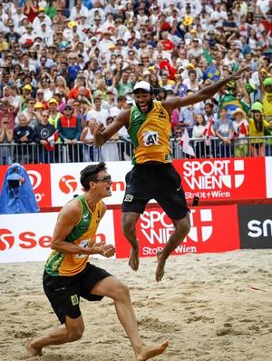 Evandro/André Stein final Mundial de vôlei de praia (Foto: Divulgação/FIVB)