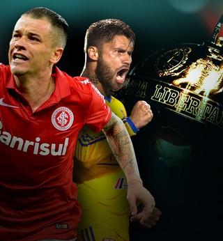 Carrossel apresentação Libertadores Internacional X Tigres  (Foto: infoesporte)