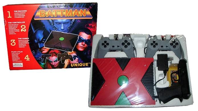 O Battman é um console tão bizarro pelo seu nome quanto pelo design (Foto: Reprodução/Arcade Sushi)