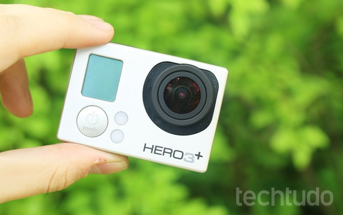 GoPro Hero 3+ (com marca d'água) (Foto: Luciana Maline/TechTudo)