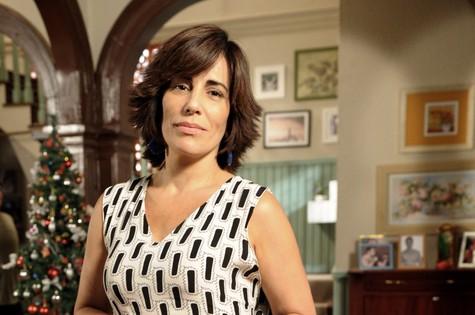 O último trabalho de Glória na TV foi em 2012 como a Roberta de 'Guerra dos sexos' (Foto: TV Globo)