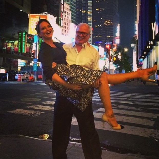 Luiza Brunet e o namorado, empresário Lírio Parisotto, em Nova York, nos Estados Unidos (Foto: Instagram/ Reprodução)