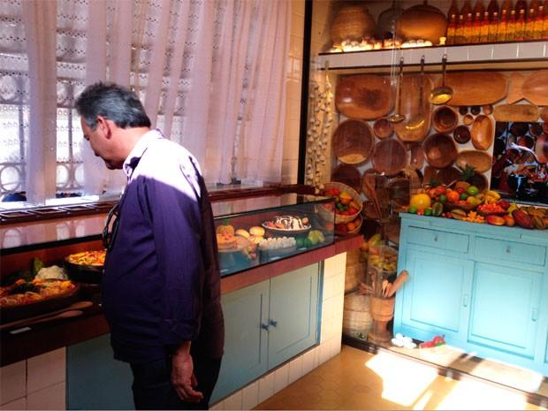 Na 'Cozinha de Dona Flor', visitantes aprendem receitas (Foto: Alan Tiago/G1)