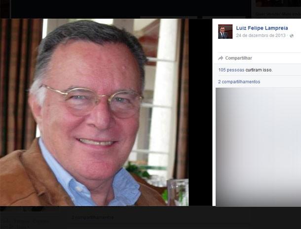 Luiz Felipe Lampreia morreu nesta terça-feira (Foto: Reprodução/Facebook)