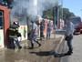 Ecoponto é parcialmente destruído por incêndio em Indaiatuba, SP