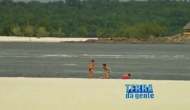 Cenário dignos de litoral que se encontram em meio ao paraíso das mata amazônica, não perca é neste sábado no Terra da Gente (Foto: TVMO)