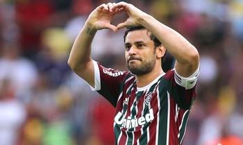 Fred celebrates the Fluminense goal against Corinthians (Photo: Nelson Perez / Fluminense FC)