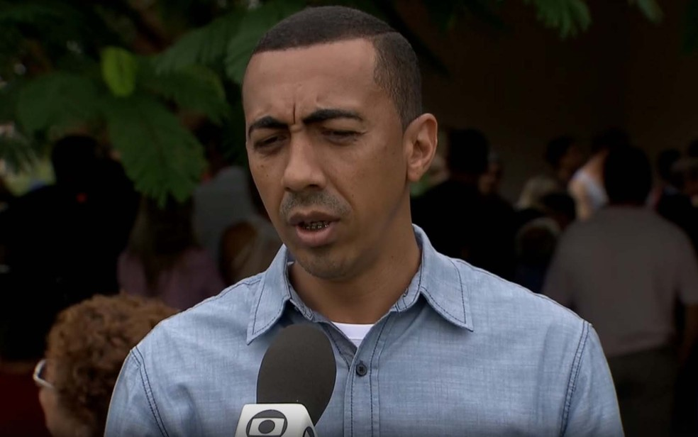 Vice governador do DF, Renato Santana, em entrevista para TV Globo (Foto: TV Globo/Reprodução)