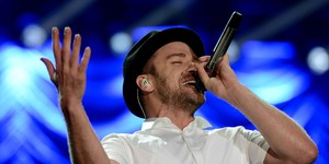 Justin Timberlake: Cry me a river (Flavio Moraes/G1)