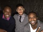 Neymar janta com Thiaguinho e Rafael Zulu em Barcelona