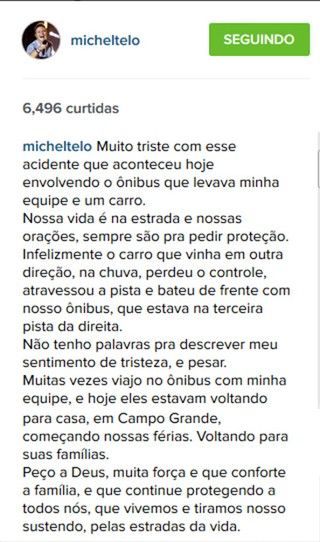 Michel Teló (Foto: Instagram / Reprodução)
