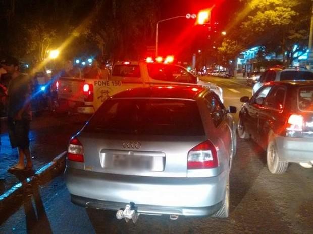 Gustavo estava na carona de um carro quando foi atingido pelos disparos (Foto: Lucas Cidade/Rádio Uirapuru)