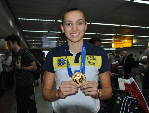Gabi, seleção feminina vôlei de quadra (Foto: João Gabriel Rodrigues)