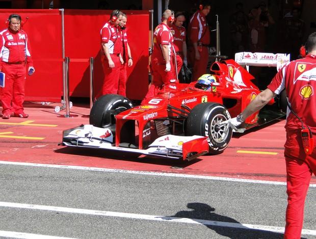 Felipe Massa participou do segundo dia de testes em Mugello (Foto: Rafael Lopes / TV Globo)
