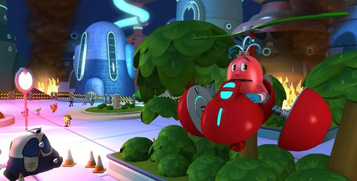 Pac-Man e as Aventuras Fantasmagoricas 2 possui cenários bem coloridos (Foto: Divulgação)