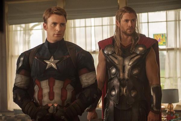 Capitão América (Chris Evans) e Thor (Chris Hemsworth) (Foto: Divulgação)