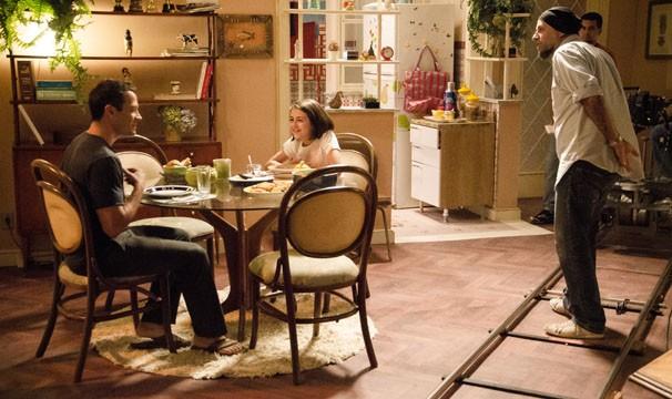 Malvino Salvador e Klara Castanho gravam cenas de Amor à Vida (Foto: Raphael Dias / TV Globo)