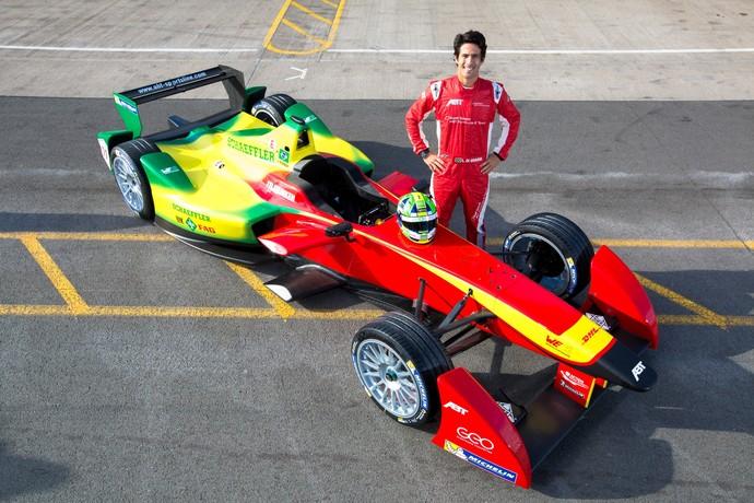 Embaixador da Fórmula E, Lucas di Grassi ajudou no desenvolvimento do carro e pilotará pela Audi Abt (Foto: Divulgação)