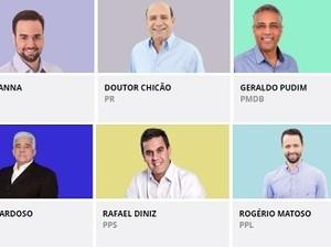 Seis candidatos disputam a Prefeitura de Campos dos Goytacazes (Foto: Arte/ G1)