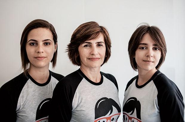 Suzyanne, Claudia e Nayara, da Code Girl: aulas de programação e design para meninas de escolas públicas em Natal (RN) (Foto: Yure Richard)