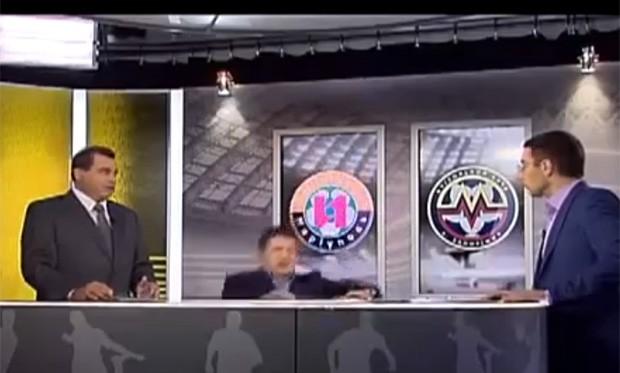 Responsável por cinco gols durante a Copa de 94, russo desmaiou e foi 'ignorado' por apresentadores (Foto: Reprodução)