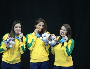 Nathalie Moellhause, Amanda Simeão; Rayssa Costa; esgrima; brasil; jogos pan-americanos