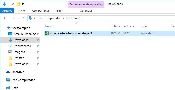 Execute o instalador do Advanced SystemCare (Foto: Reprodução/Helito Bijora)