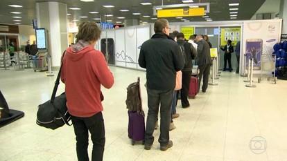 Aeroportos do Rio registram longas filas no segundo dia do novo esquema de fiscalização