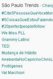Trending Topics em SP às 17h07 (Foto: Reprodução)