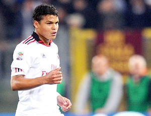 Thiago Silva na partida do Milan (Foto: Getty Images)