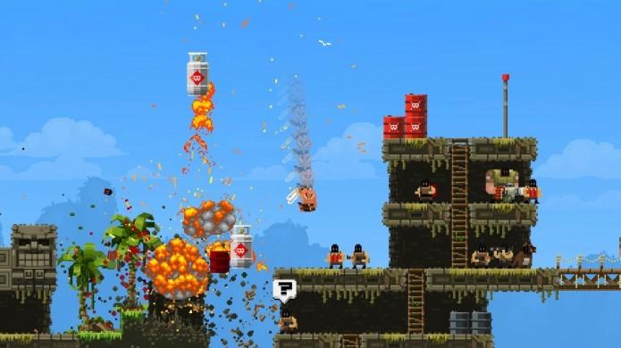 O som de explosões e tiros de Broforce são muito bem produzidos (Foto: Divulgação/Steam)