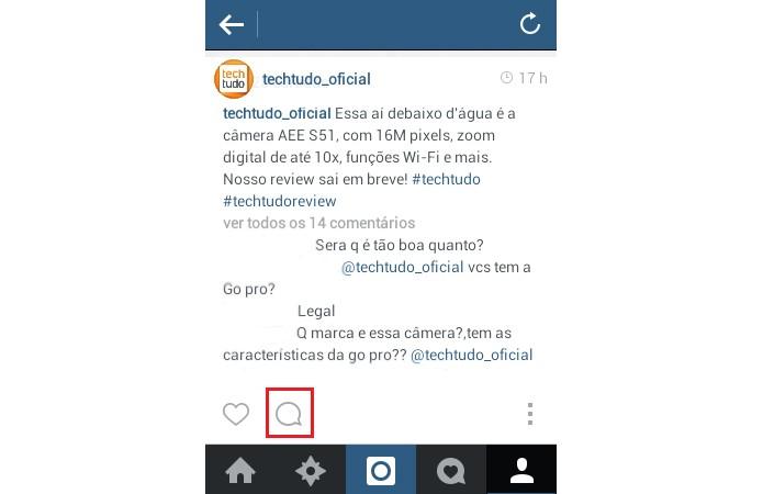 Confira se você está seguindo corretamente as regras do Instagram antes de comentar uma foto (Reprodução/ TechTudo)