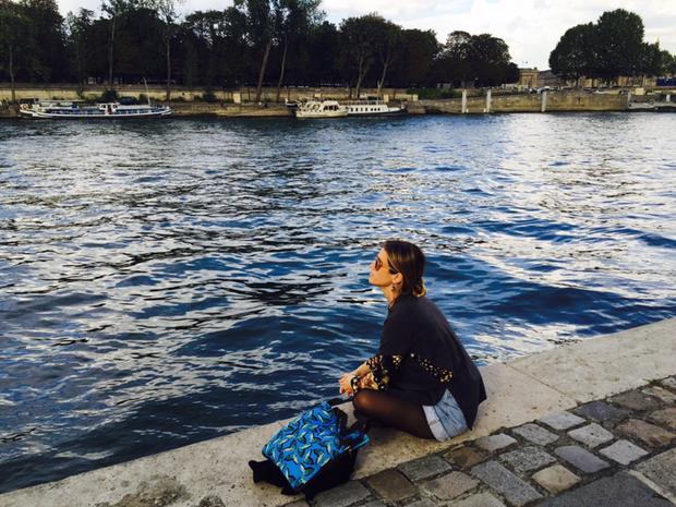Juliana Didone curte férias na Europa (Foto: Arquivo pessoal)