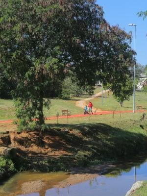 O parque foi instalado em uma área de 90.000 metros quadrados  (Foto: Bruno Corrá)