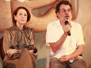 Fernanda Montenegro e o diretor Jorge Furtado participam da coletiva (Foto: Ellen Soares / TV Globo)