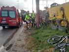 Ciclistas são atropelados e motorista foge (Murilo Ribeiro Gomes/Divulgação)