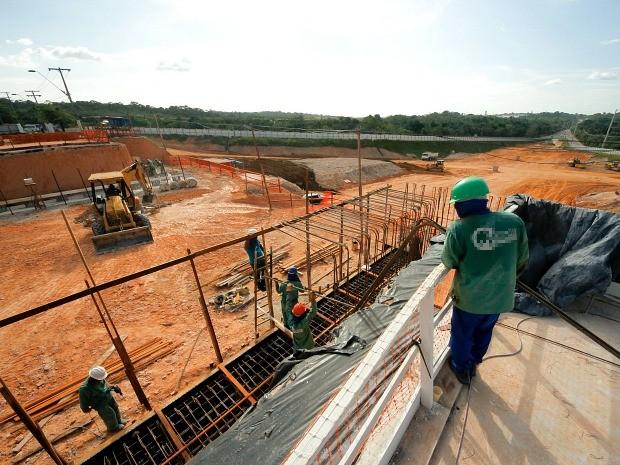 Obra objetiva facilitar fluxo de veículos próximo à Avenida Torquato Tapajós (Foto: Divulgação/Seminf)